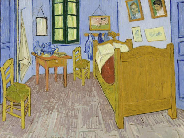 Vincent van Gogh, Camera di Vincent ad Arles, 1889, Olio su tela, 57 x 74 cm, Musée d'Orsay