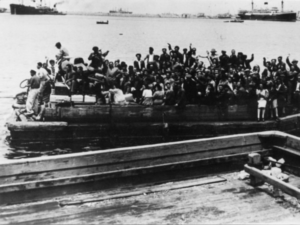 Alla partenza della nave Kadima, salpata il 5 novembre 1947 da Pellestrina con 794 persone a bordo
