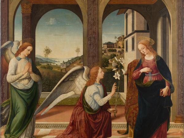 Biagio D'Antonio, Annunciazione, Seconda metà XV secolo, Olio su tela, 173.5 x 168 cm, Roma, Accademia Nazionale di San Luca