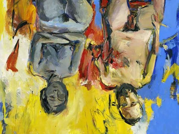 Georg Baselitz, <em>Schlafzimmer (Camera da letto)</em>, 1975, Olio e carboncino su tela, 200 x 250 cm | © Georg Baselitz Treuhandstiftung