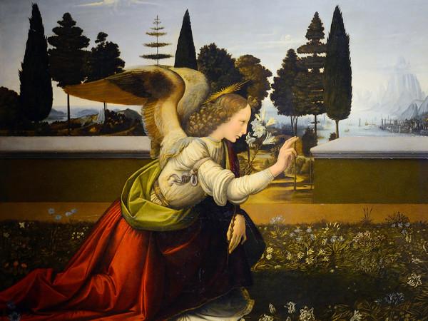 Leonardo da Vinci, Annunciazione, 1472 circa, Olio su pannello, 98 x 217 cm, Firenze, Gallerie degli Uffizi