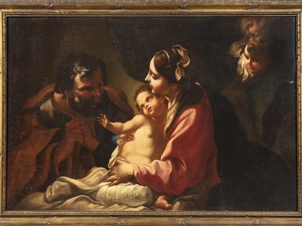 Giambettino Cignaroli, Sacra famiglia, olio su tela, cm. 76x113. Venezia, Collezione Lorenzo Fogliata