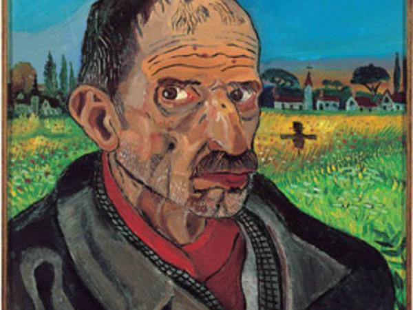 Antonio Ligabue. Autoritratto con spaventapasseri
