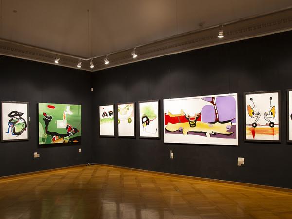 Opere di Erzsébet Palásti dalla mostra 'Metamorfosi', Accademia d'Ungheria di Roma