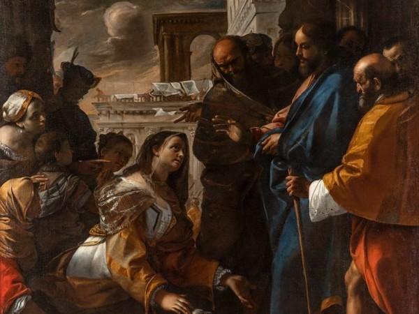 Mattia Preti, Cristo e la Cananea, 1646-1647, olio su tela, cm. 235 x 235