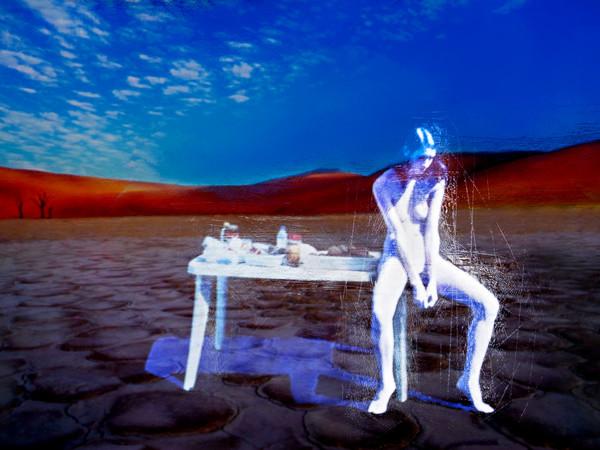 Andrea Pakanowski, Il pasto nudo sul pianeta rosso, 2012, cm.156x109