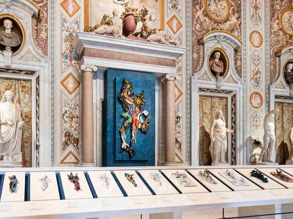 Lucio Fontana. Terra e oro, Galleria Borghese. Veduta dell'installazione, 2019
