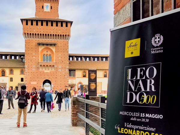 Leonardo 500 - Luci e suoni nel Cortile delle Armi, Castello Sforzesco, Milano