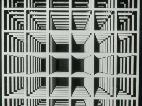 Sol LeWitt. Modular Cube (1966). White painted aluminum, 60 x 60 x 60 inches. Art Gallery of Ontario, Toronto