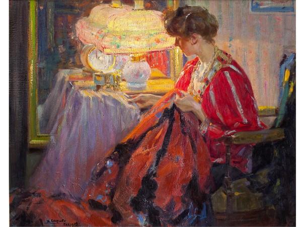 Ulisse Caputo, Lavoro di sera, 1909