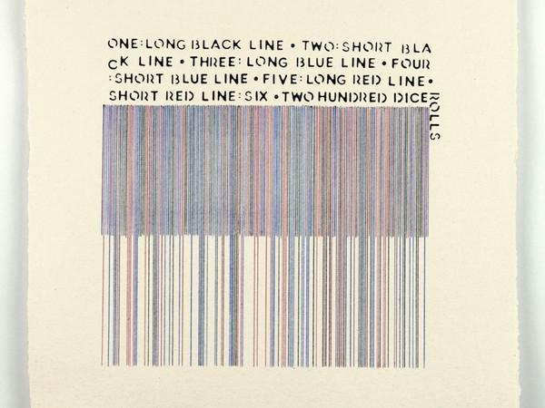 Vincenzo Merola, 200 dice rolls, 2016. Kugelschreiber auf Papier, cm. 30x30