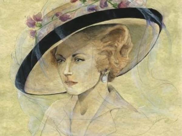Ritratto di Duchessa di Guermantes. Figurino di Carlo Menucci