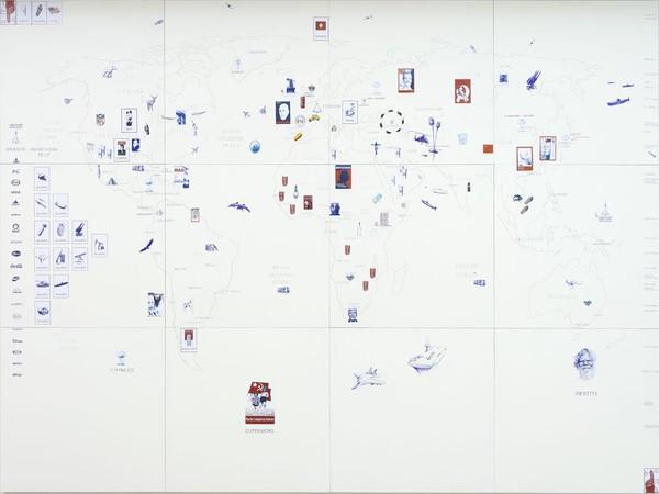 Giuseppe Stampone, Global Dictature / 1, 2012 Penna Bic su carta 20 elementi, 48x42 cm ciascuno. Collezione Calabresi Roma - Cortona