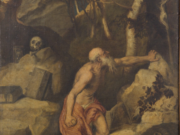 Tiziano Vecellio (bottega di), San Girolamo, olio su tela, cm. 76,5 x 107,5