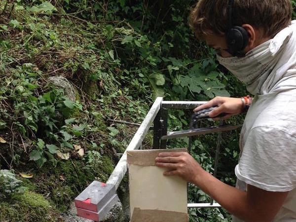 James Philip Thompson al lavoro nel bosco di Anticoli Corrado