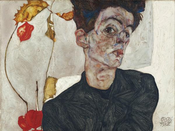 Egon Schiele, Autoritratto, 1912, Olio su tela, 39.8 x 32.2 cm, Leopold Museum, Vienna