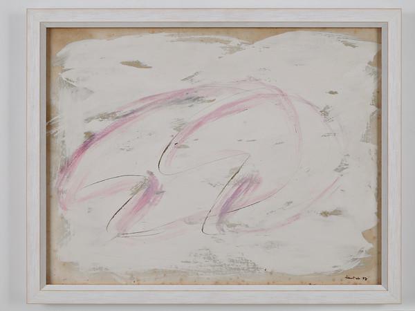 Jean Fautrier, Senza Titolo, 1957, tempera su carta applicata su  tela, cm. 50x64