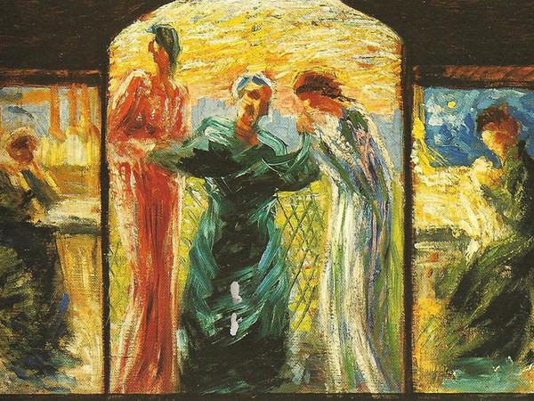 Umberto Boccioni, Trittico. Veneriamo la Madre, 1907-1908. Olio su tavola, 27 x 56 cm. Collezione privata
