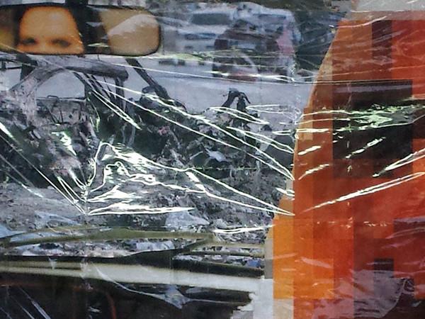 Thomas Hirschhorn, «Pixel-Collage n°46», 2016 (veduta in studio / studio view) , 345 x 636 cm