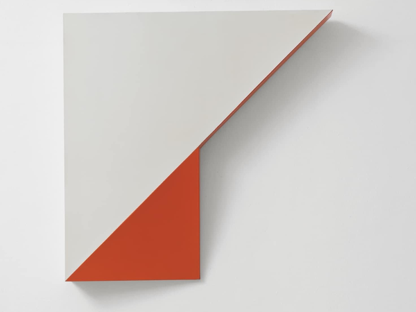 Sandro De Alexandris, TS/LP 2, 1967, laminati plastici e vernice acrilica, 100x100x10 cm.
