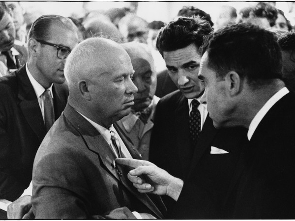 Nikita Khrushchev and Richard Nixon, USSR, Moscow, 1959