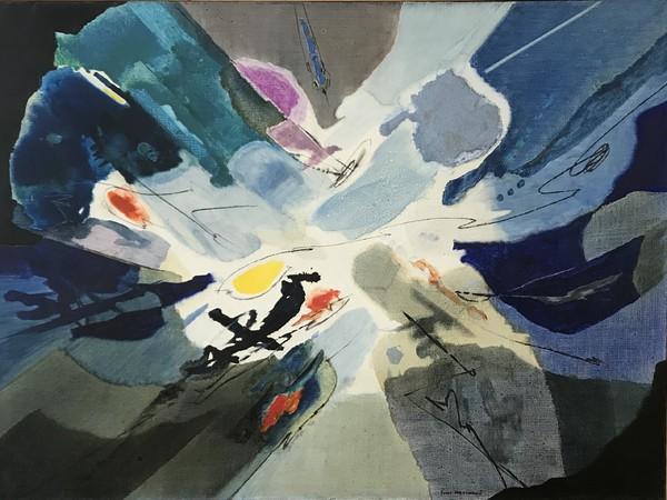 Gino Morandis, <em>Senza titolo</em>, 1960, Olio su tela, 132 x 98 cm<br />