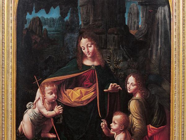 La Vergine delle Rocce, Bernardino de Conti (Madonna con il Bambino, san Giovannino e un angelo) 1508-1510. Biella, Museo del Territorio