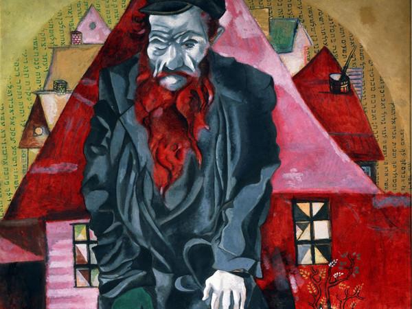 Marc Chagall, L'ebreo rosso (l'ebreo in rosa) 1914-15, San Pietroburgo, Museo Statale Russo
