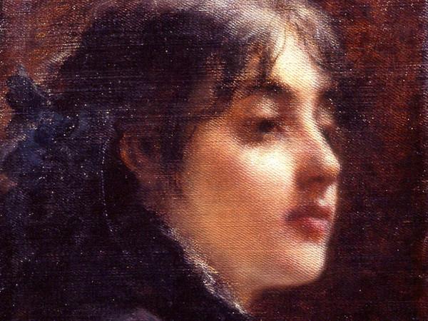 Roberto Fontana, Primi pensieri, Olio su tela, 43.5 x 34.5 cm, Collezione privata