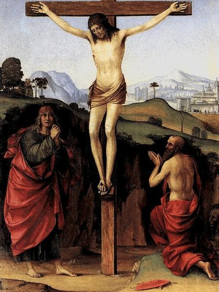 Crocifissione con San Giovanni Evangelista e San Gerolamo