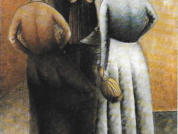 Ottone Rosai, Donne alla fonte, 1922, olio su tela, cm. 76x41