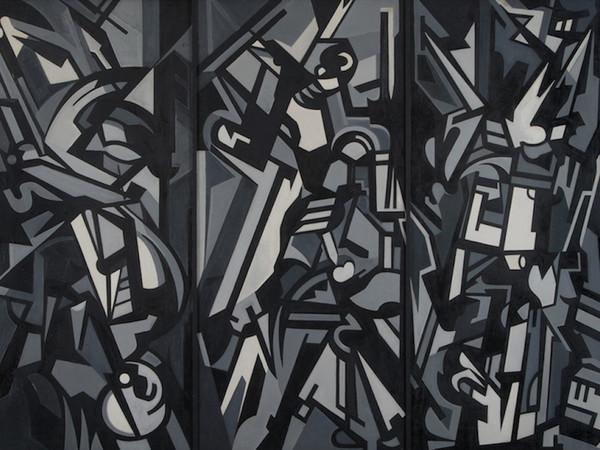 Emilio Vedova, Trittico della libertà, 1950. Olio su tela, 135x186,5 cm.
