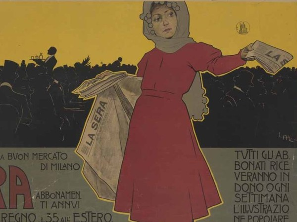 Leopoldo Metlicovitz, <em>La Sera</em>, 1898, Cromolitorafia su carta, 94 x 54.3 cm | Courtesy of Museo Nazionale, Collezione Salce, Treviso