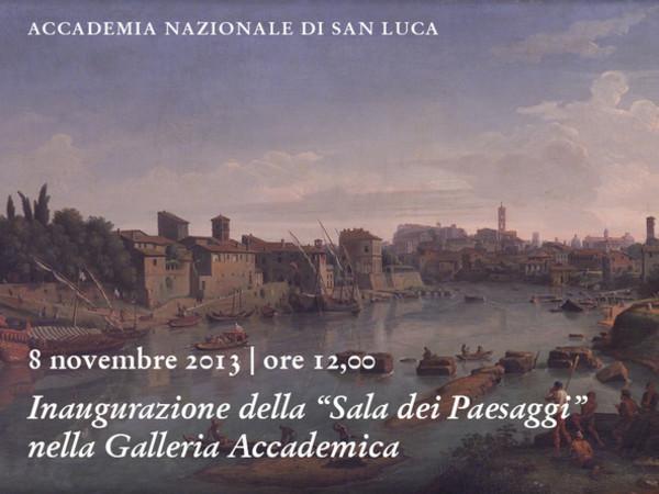 Sala dei paesaggi nella Galleria dell'Accademia Nazionale di San Luca, Roma
