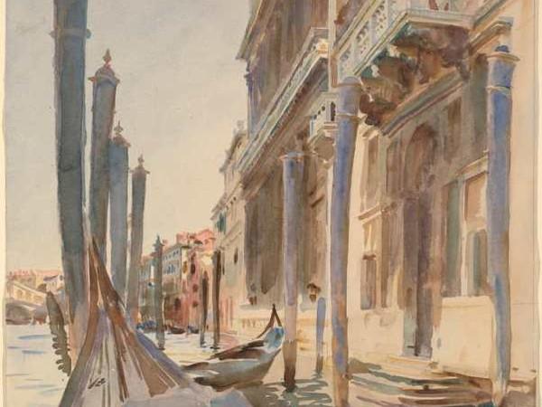 John Singer Sargent, <em>Attracchi di gondole sul Gran Canale</em>