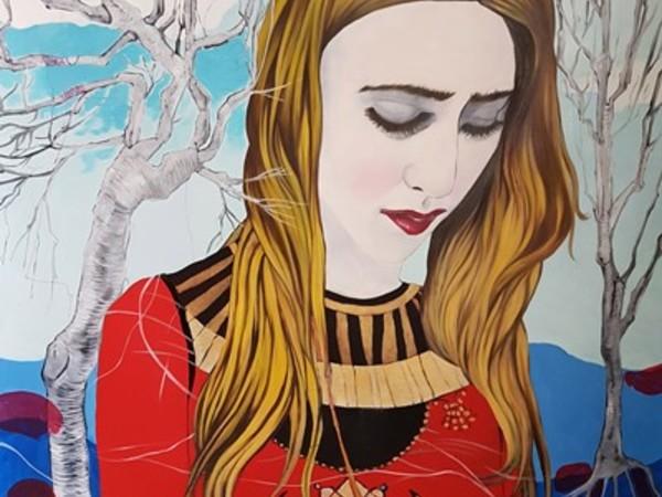 Lidia Bachis, Il Regno, La Madonna, 2017-2018, olio su tela, 110x140 cm.
