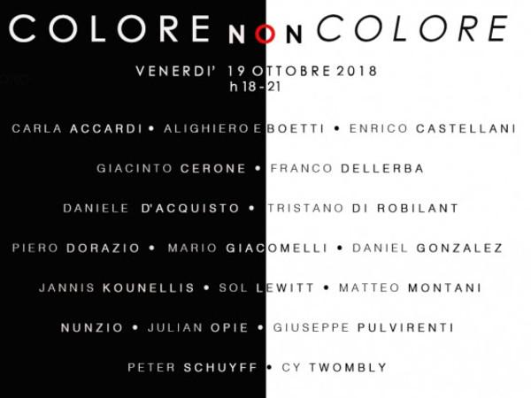 Colore non Colore, Galleria Valentina Bonomo, Roma