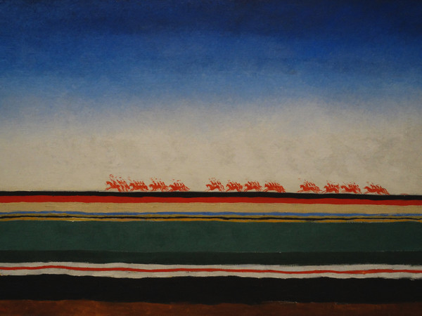 Kazimir Malevich, Red Cavalry, 1932. Oil on canvas, 91x140