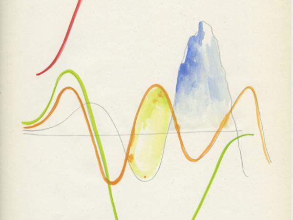 Francesca Ferreri, Gaussiana, 2019, acquerello su carta, cm. 21 x 26