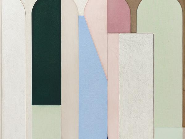 Svenja Deininger, Untitled, 2019, olio su tela, 50 x 50 cm.