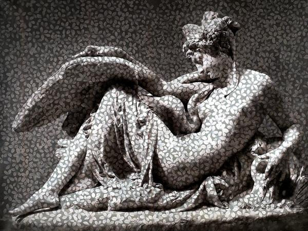 Andrea Chisesi, Leda e il cigno, 2020, fusione, 150 x 200 cm.