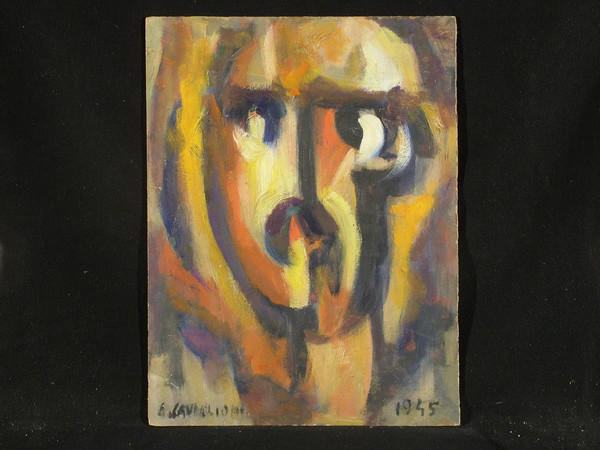 Angelo Caviglioni, Filippo Tommaso Marinetti, 1945, olio su cartone
