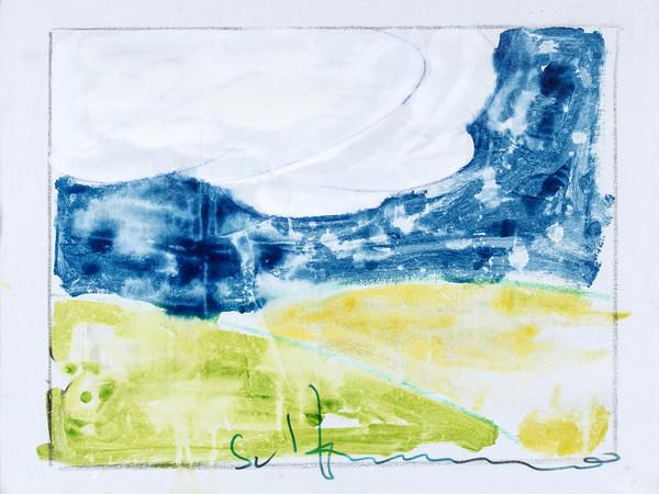 Mario Schifano, Paesaggio anemico, 1973, smalti su tela, 80x100