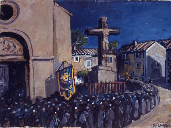 Auguste Chabaud, <em>La Procession. L'Enterrement Sort de l'Eglise</em>, 1920 circa | Courtesy Governatorato SCV Direzione dei Musei