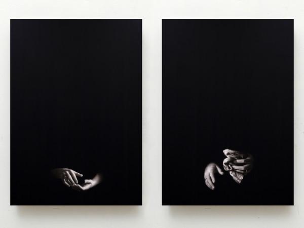 Ettore Frani, I desideranti, dittico, 2020, cm. 100x70 ciascuna, olio su tavola laccata