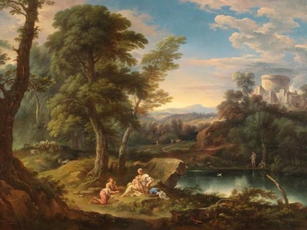 Carlo Antonio Tavella, Paesaggio boscoso presso uno stagno