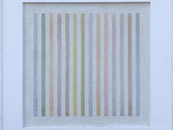 Elio Marchegiani, Grammature di colore, 1979, pigmenti su intonaco, cm. 68x67
