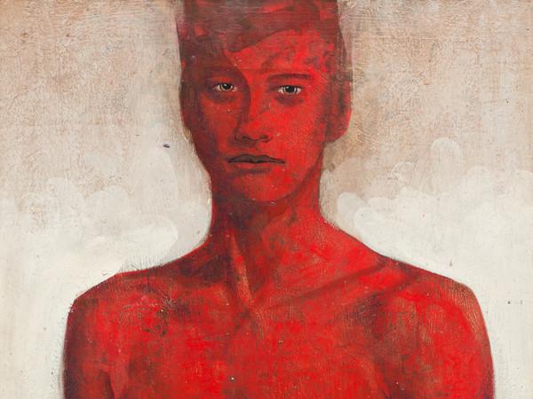 © Tarik Berber, Cadmium Toxic Red 14, 2016, Olio su tela, 40.5 x 75 cm | Courtesy of Tarik Berber London 2016