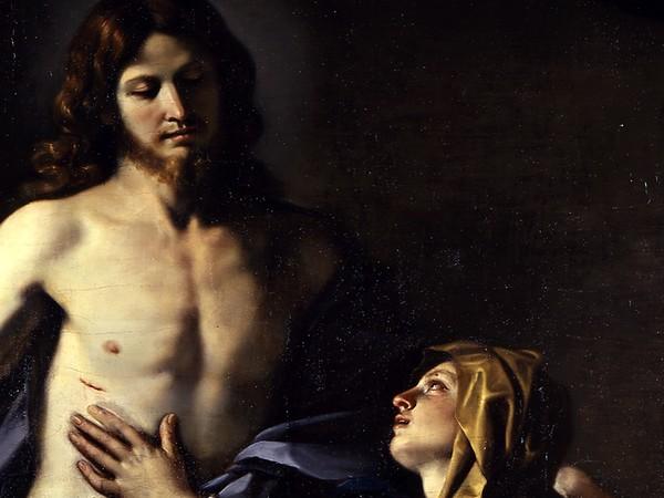 Giovanni Francesco Barbieri detto Guercino, <em>Cristo risorto appare alla madre</em>, 1629, olio su tela, 179x260 cm. Cento, Pinacoteca civica