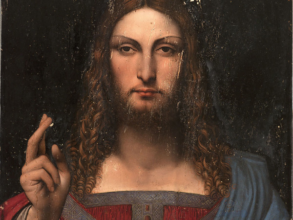 Leonardo da Vinci e collaboratore, <em>Cristo come Salvator Mundi</em>, 1499 circa, Olio su tavola di noce, 68.6 x 48.9 cm